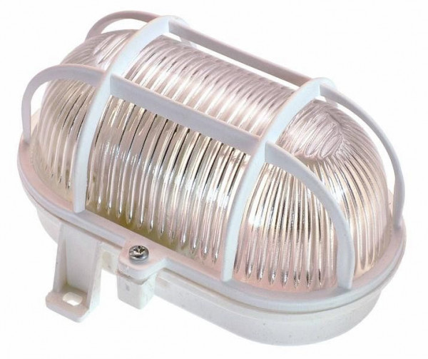 as-Schwabe Oval-Leuchte 60W, weiß, 56112