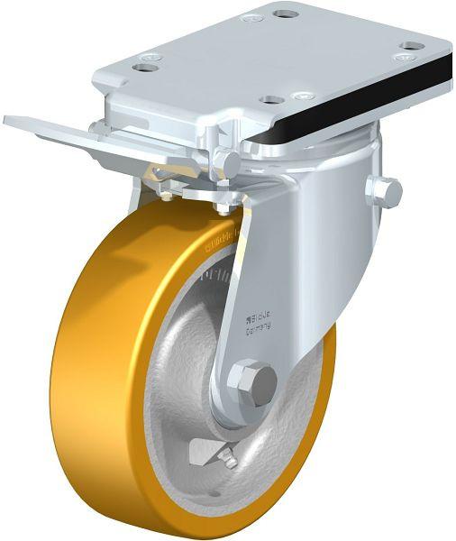 Blickle Stahlblech-Lenkrolle Anschraubplatte Feststeller Vollgummi Ø 160 mm