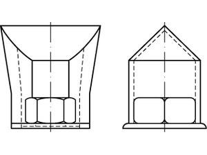 ART 88916 Sicherungsmuffen für HV-Schr. Stahl M 20,VE=S (10 Stück)