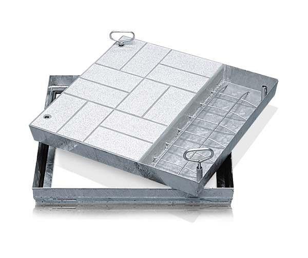 ZARGES Schachtabdeckung Stahl verzinkt 635 x 635 mm, 47034