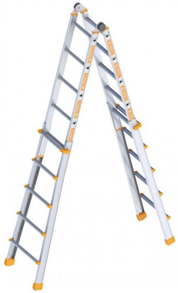 Layher Teleskopleiter, Sprossen: 4x5, Länge [m]: 1.90, 1058020