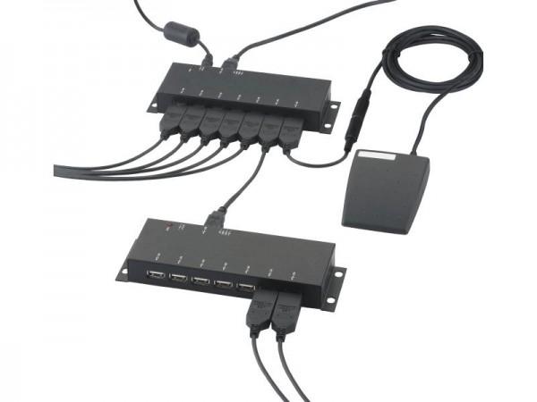 HELIOS PREISSER USB Hub 7-fach, mit Stecker-Netzgerät, 1998730