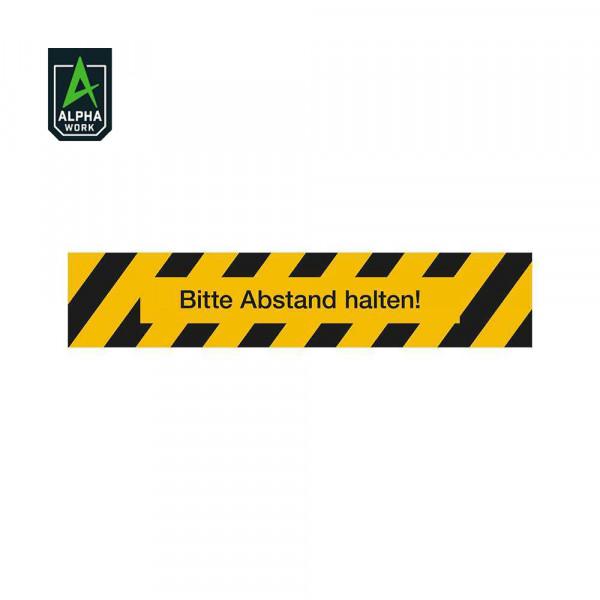 Alpha Work Bodenmarkierung mit Antirutschlaminat R 11 Clean Grip: Bitte Abstand halten, 5532/64