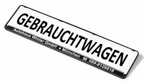 Eichner Miniletter Werbeschild standard, Weiß, Aufdruck: Gebrauchtwagen, 9219-00165