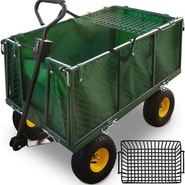 DEUBA Transportwagen - Bollerwagen - Gartenkarre mit Plane 550kg, 101453
