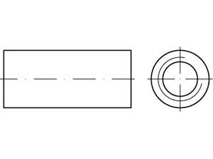 ART 88088 Verb.-muffe, Rd. M12 x 30 x 15 A 2 A 2,VE=S (25 Stück)