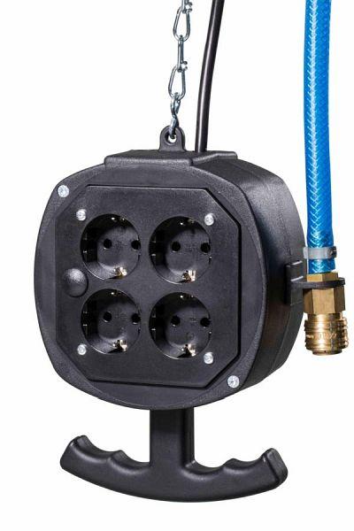 Hängeverteiler Feldberg Energiewürfel 3m Kabel 3G1,5  Druckluft as-Schwabe 60974