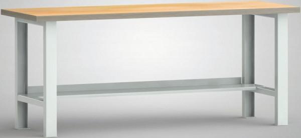 KLW Standard-Werkbank, 2000 x 700 x 840 mm, mit Buchen-Multiplexplatte, WS503N-2000M40-X1580
