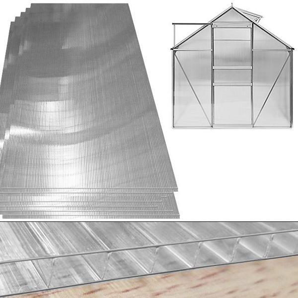 DEUBA Hohlkammerstegplatten Doppelstegplatten 10,25 m², Stärke 4mm, 101737