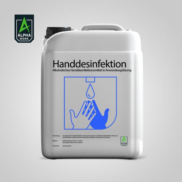 Alpha Work Händedesinfektionsmittel 5000ml Hand Desinfektion 5l Kanister, 13584