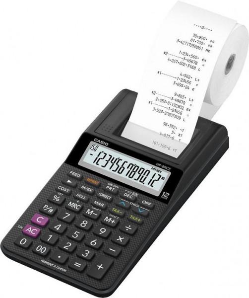 CASIO Tischrechner/HR-8RCE-BK 4,2 x 10,2 x 20,9 cm 12-stellig sw, HR-8RCE-BK