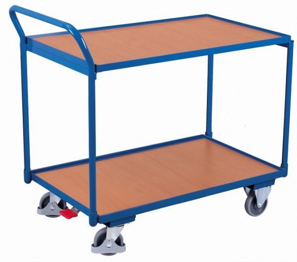 VARIOfit Tischwagen 2 Ladeflächen Traglast 250 kg Thermoplatische Gummibereifung, sw-500.500