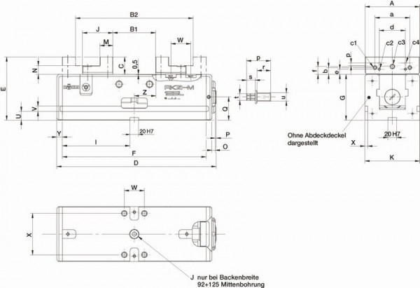 R hm nc kompakt zentrischspanner rkz m backenbreite 70 for Nc elektrotechnik