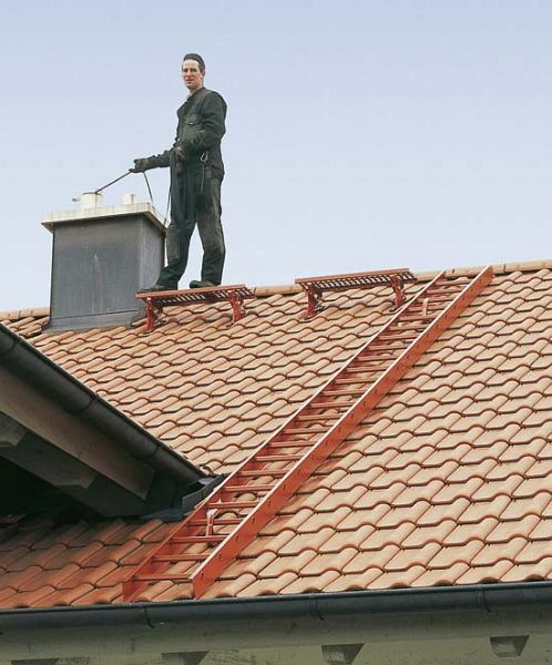 Dachdeckerleiter aus Holz 14 Sprossen 33122