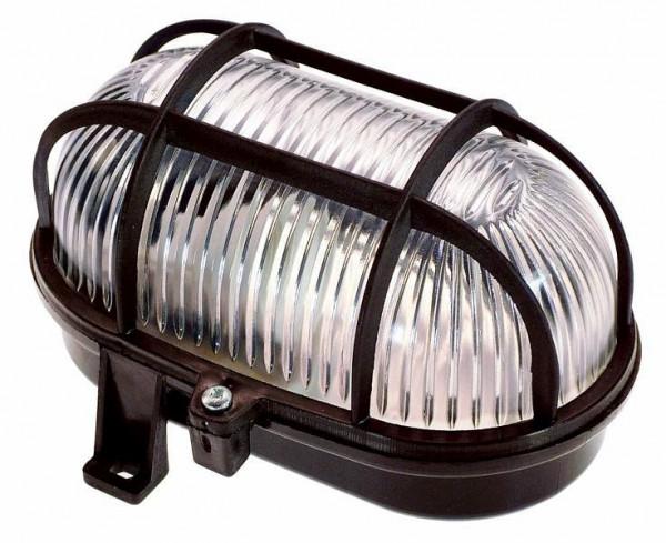 as-Schwabe Oval-Leuchte 60W, schwarz, 56111