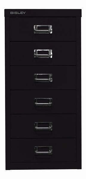 Bisley MultiDrawer™, 29er Serie, DIN A4, 6 Schubladen, schwarz, L296633